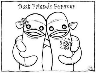 best friend coloring pages for girls colorings net
