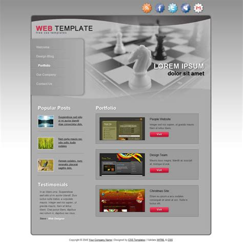 dreamweaver templates torrent 25 free dreamweaver css templates available to