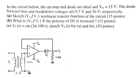 how does diode test work how does a diode work when the diode is directed towards the output of the op
