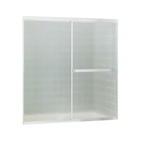 Shower Door At Home Depot Sterling Standard 52 In X 56 7 16 In Framed Sliding Tub Shower Door In Silver 690b 52s The