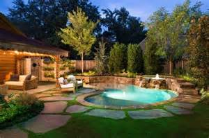 Beautiful Backyards With Pools Beautiful Backyard Lighting Pools Xcitefun Net