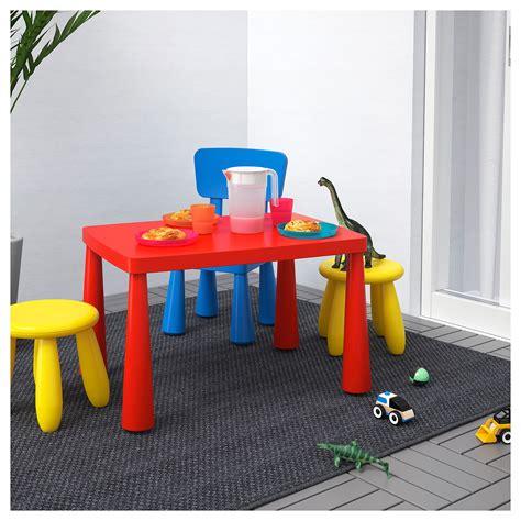 ikea tafel rood mammut kindertafel binnen buiten rood 77 x 55 cm ikea