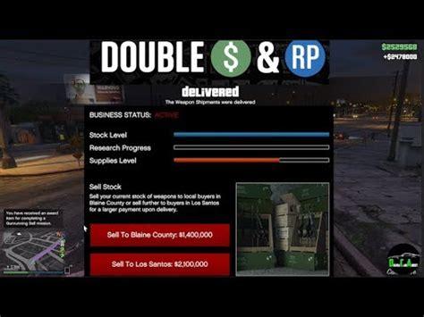 gta 5 gunrunning double $ (selling full stock from bunker