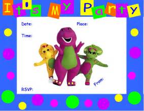 Barney Invitation Template 40th birthday ideas barney birthday invitation templates