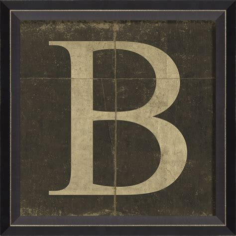 alphabet letters for wall decor district17 alphabet letter b framed wall framed