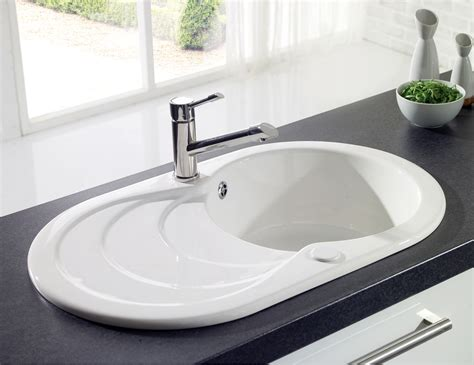 Astracast Cascade 1 0 Bowl Ceramic Inset Kitchen Sink Inset Kitchen Sink