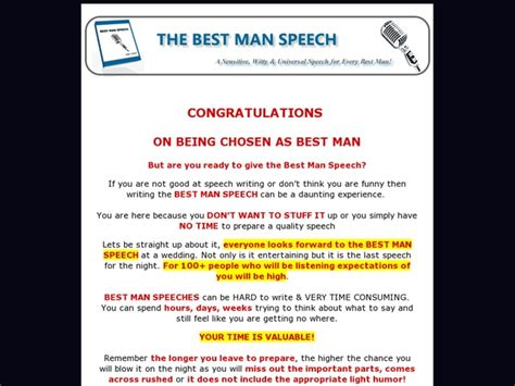 template for best speech 7 best images about speeches on wedding