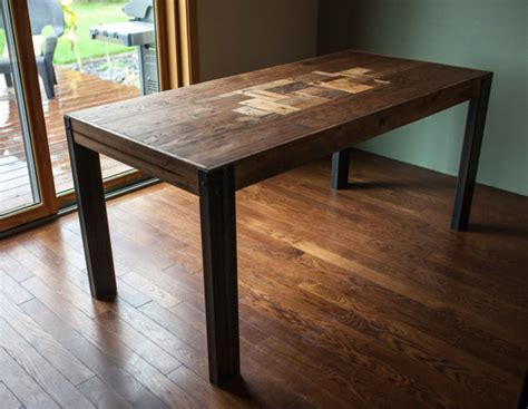 Wood Dining Table With Metal Legs Pallet Wood Dining Table With Metal Legs