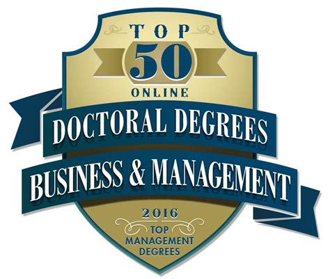 Business Doctoral Programs by Top 50 Doctoral Degrees In Business And Management
