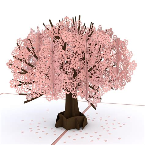 Cherry Blossom Tree Card Template by Cherry Blossom Pop Up S Day Card Lovepop