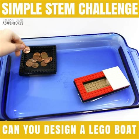 lego boat challenge can you design the best lego boat simple stem project