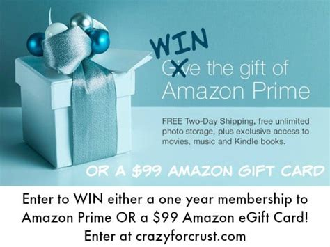 Amazon Prime Giveaway - 2015 favorite things giveaway crazy for crust