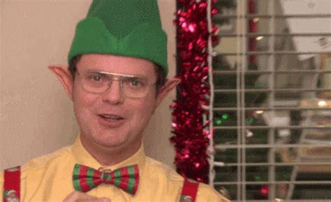buying and receiving christmas gifts as told by the office