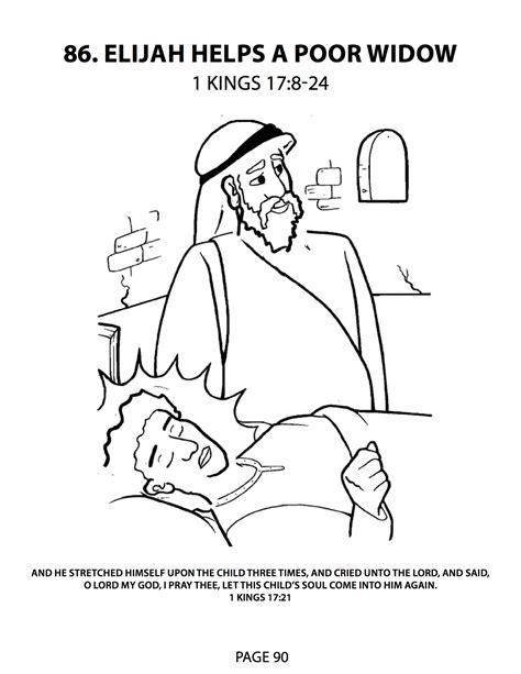 elijah and the widow coloring page free coloring pages