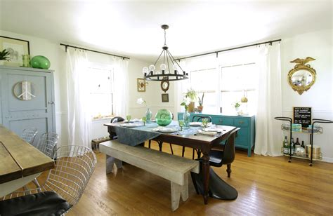 eclectic summer kitchen  dining room  cassie