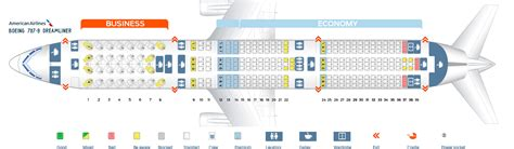 seat map dreamliner seat map boeing 787 9 american airlines best seats in the