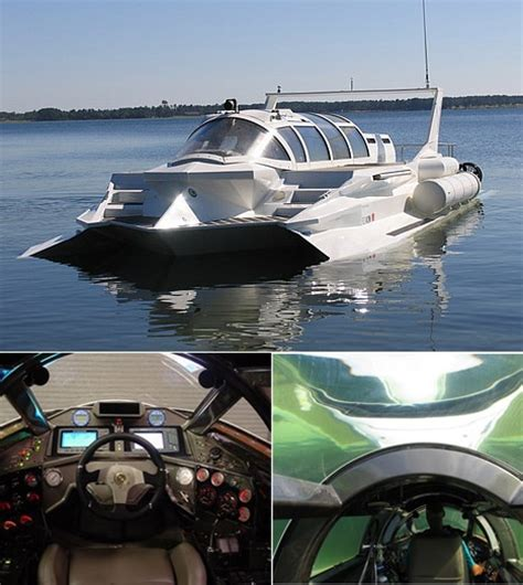 fast underwater boat the hyper sub submersible powerboat is a combination boat