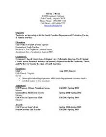 Criminal Justice Resume Examples Objective Resume Criminal Justice Http Www