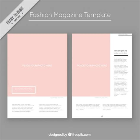 fashion magazine template vector free download