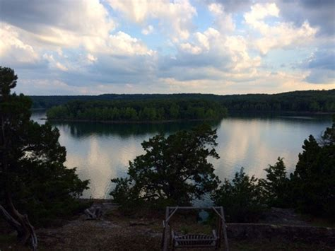 view of table rock lake from rivers road shell knob