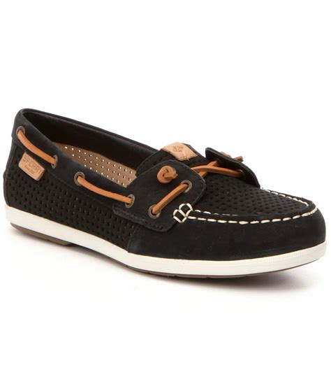 sperry coil ivy boat shoes sperry top sider coil ivy perforated leather slip on boat