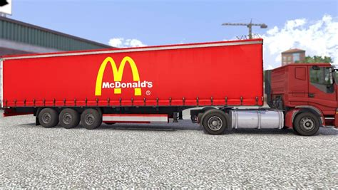 s trailer awesome truck simulator 2 mcdonald s trailer