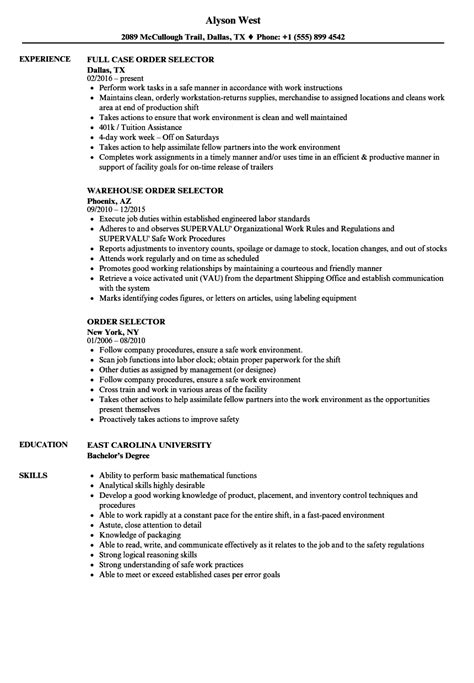 sle cto resume charming order selector description for resume ideas