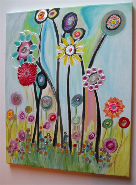 painting for youth childrens canvas wall abstract acrylic painting on 20lx16w