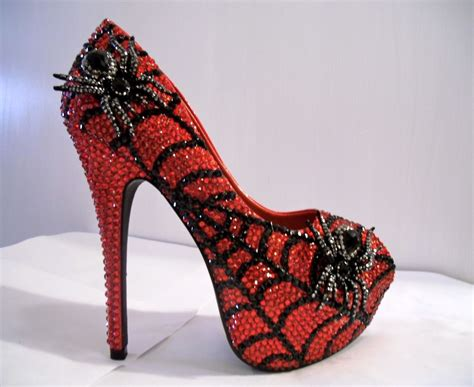 personalized high heels buy a custom made rhinestone open toe spider heels