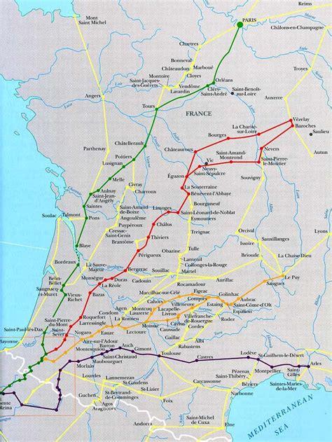 camino de santiago pilgrimage route camino de santiago routes converging at st jean