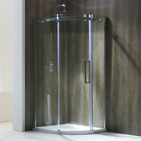 Single Glass Shower Door Frontline Aquaglass Single Door Offset Quadrant Shower Enclosure