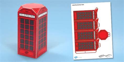 Big Box Of Craft Modele phone box paper model phone box paper craft