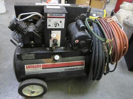 sanborn portable air compressor property room