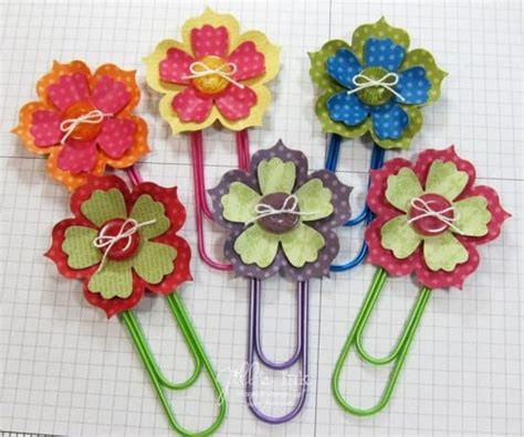 paper clip craft paper clip button bookmarks how to make