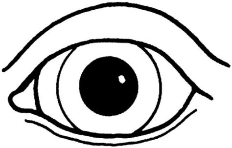 eye coloring pages for preschool printable cartoon eyes clipart best