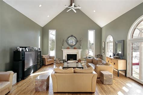 vaulted ceiling decorating ideas living room home interiors home parties crown molding for vaulted