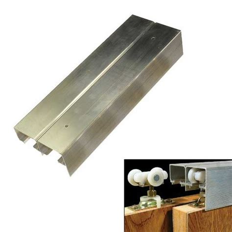 bypass cabinet door hardware johnson hardware 134f series bypass track 96 quot 134f 096