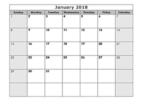 Calendar 2018 Q1 2018 Blank Calendar Templates Free Printable