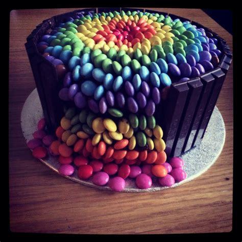 smarty kuchen chocolate smarties waterfall cake smarties cake