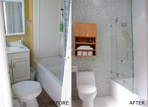 bathroom updates before and after verbouwing kleine badkamer interieur inrichting
