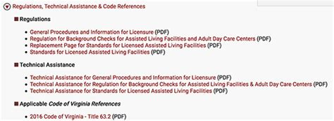 virginia code section virginia s assisted living rules and regulations