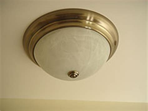 installing a flush mount to ceiling light fixture