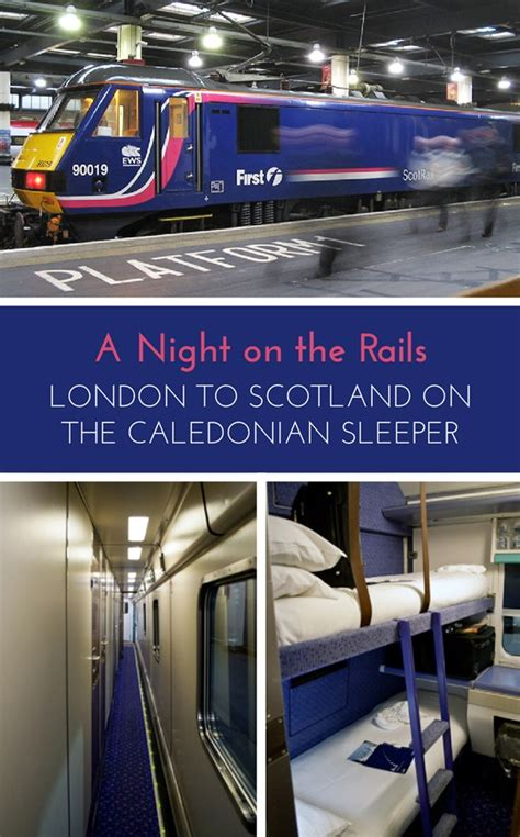 the caledonian sleeper a on the rails on the luce