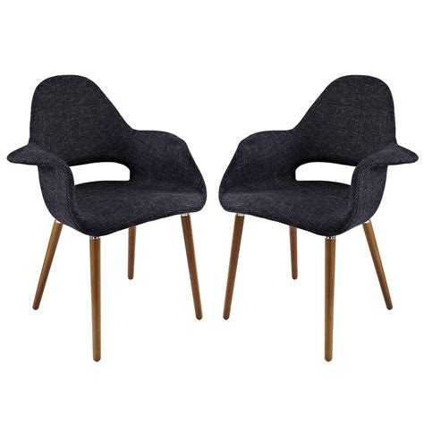 upholstered dining armchair set of 2 aegis contemporary tweed upholstered dining