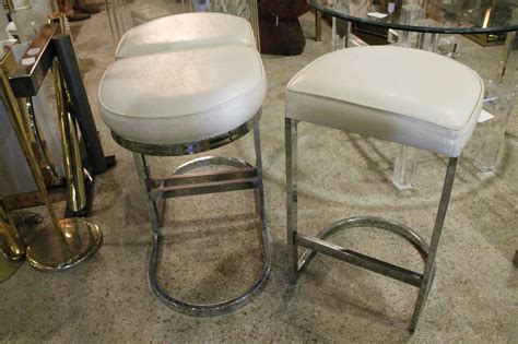 bar stools west palm beach set of 3 chrome cantilever bar stools milo baughman mid