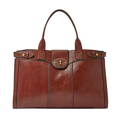 Gustto Baca Bag In Vintage Brown by Lyst Fossil Vintage Reissue Leather Weekender Bag In Brown