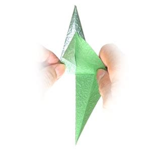Origami Calyx - how to make a three sepals standard origami calyx page 11