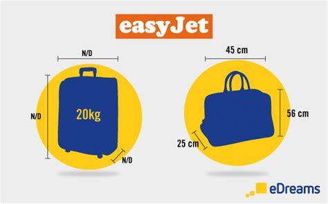 quanti bagagli si possono portare in aereo easyjet misure bagaglio e peso