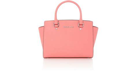 Michael Kors Coral Tote by Michael Kors Selma Coral Tote Bag In Pink Coral Lyst
