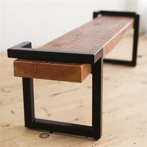 steel and wood bench steel and salvage wood bench factor fabrication